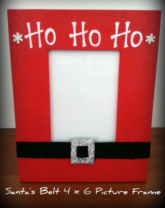 Santa's 'Ho Ho Ho' Belt Holiday Picture Frame by SassySalleys, $12.00