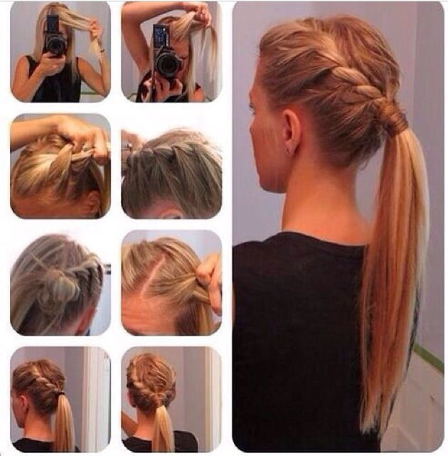 Double French Braided Ponytail