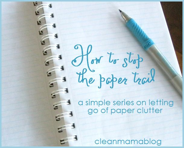 How to Stop the Paper Trail – Binders.  links to recipe, housekeeping, cleaning and budget binder organization
