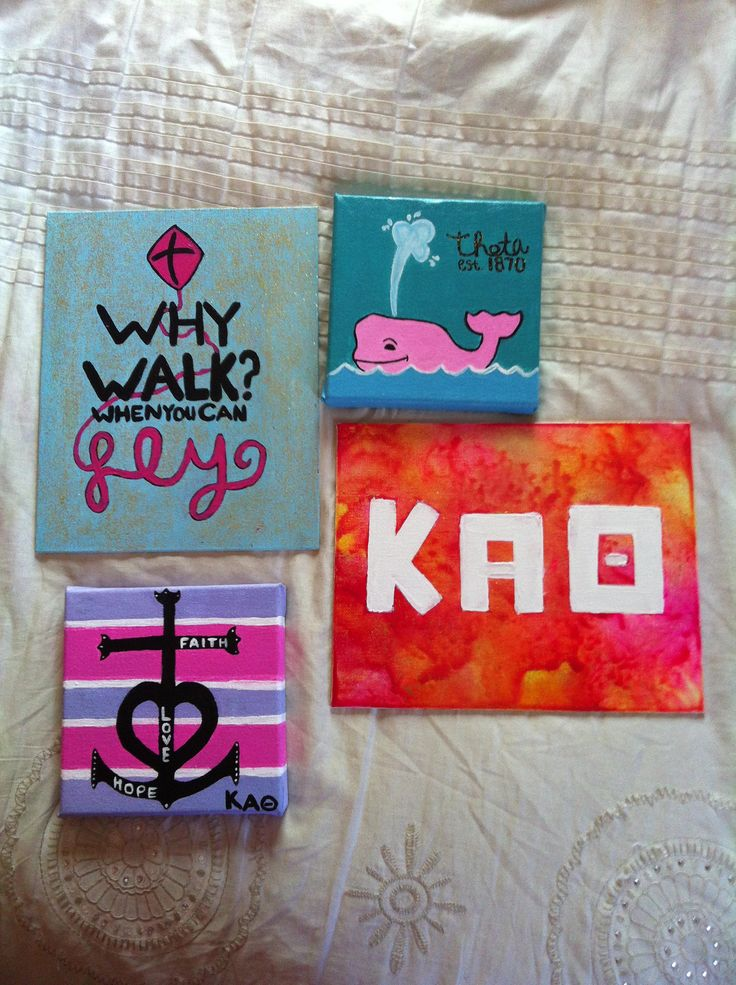 Kappa Alpha Theta crafts  Could do this with any lettering