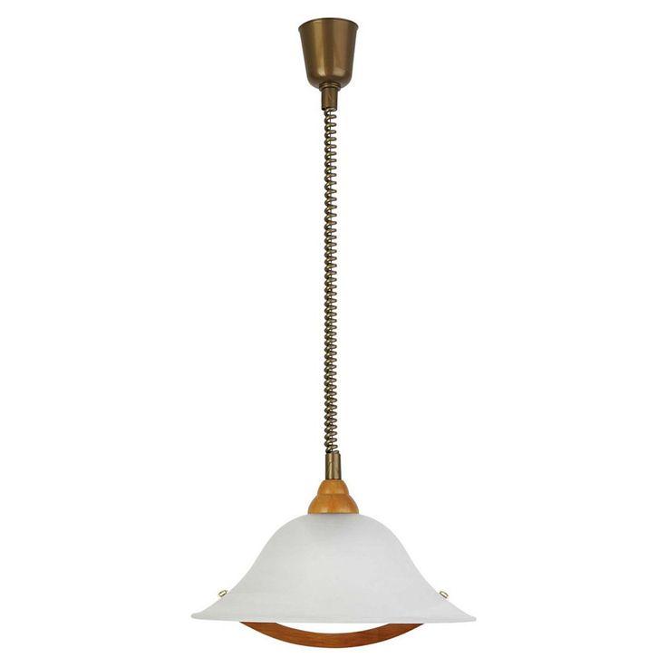Marvelous Brilliant Leuchten Torbole Pendelleuchte mit Rollizug holz messing Alabasterglas Jetzt bestellen unter https moebel ladendirekt de lampen deckenleuchten