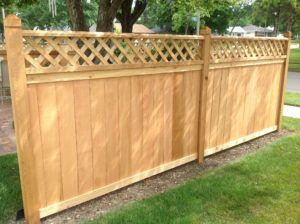 White Cedar Wood Fence Panels