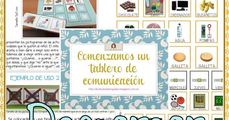 He estado preparando un tablero de comunicación y una agenda visual para algunos niños, bien que aún no poseen lenguaje verbal (son preve...