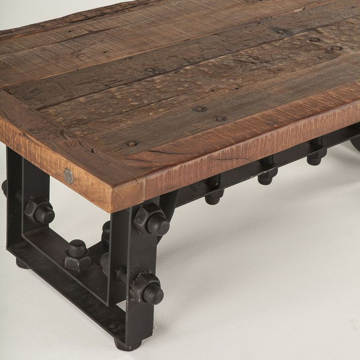 Stylish Designer Coffee Table Industrial Antiques Steam: 121 Best Metal Furniture Images On Pinterest