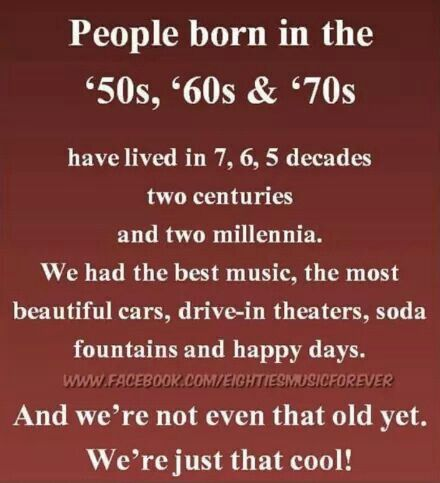 People born in the.....