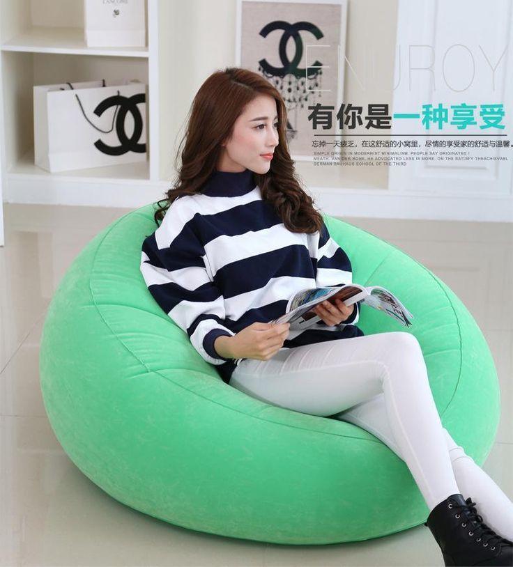 Inflatable Air Bean Bag Chair Deep Relax Sofa Home Furniture Portable Lazy Chairs