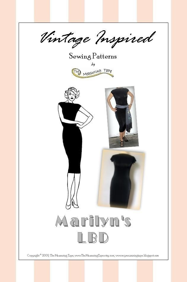 Paper Sewing Pattern for Women - Marilyn's LBD (Dress, Christmas). $13.50, via Etsy.