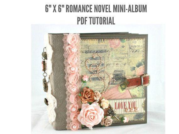 Hey, I found this really awesome Etsy listing at https://www.etsy.com/ru/listing/181026035/6x6-romance-novel-scrapbook-mini-album
