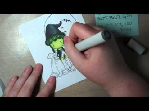 Copic coloring of black clothing- This is wonderful, If you use copics-watch!