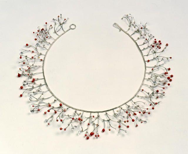 Suzan Rezac. Jewelry. Necklace: platinum, silver, glass