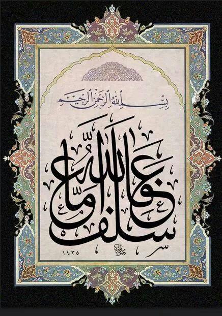 عَفَا اللَّهُ عَمَّا سَلَفَ <3Mâide Suresi 95. Ayetin son kısmından bir bölüm<3 Manası: Allah Teâlâ geçmiş olanı af buyurmuştur.<3