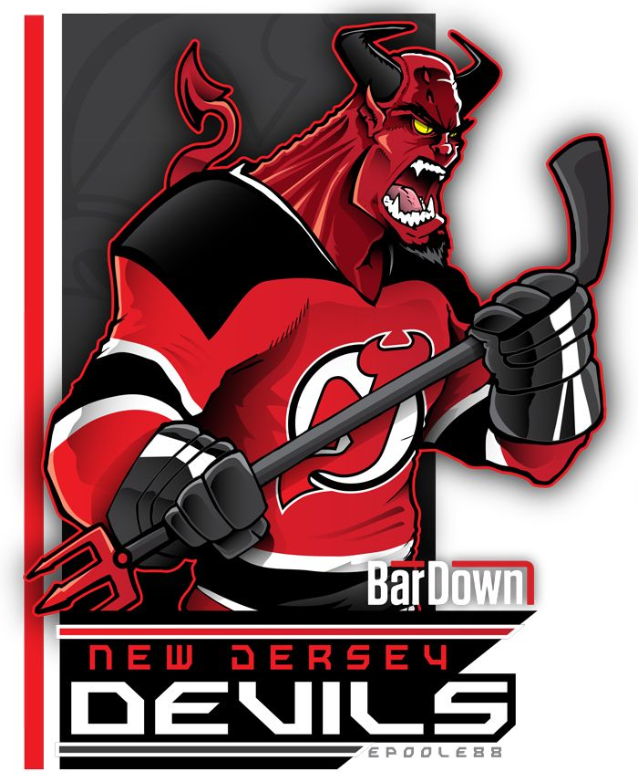 Okay already! I'll buy a Schneider shersey, just don't smite me!  The New Jersey Devils look demon-riffic as imagined by Eric Poole. More of his work at http://epoole88.tumblr.com