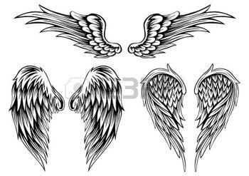 tatouage ange: Ailes illustration abstraites définies                                                                                                                                                     Plus