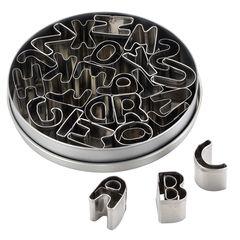 """1"""" Metal Alphabet Cookie Cutter Set"""