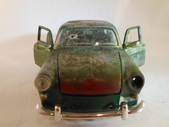 1970s VW 1600 series 1/24 scale model car in green & 83 best Model cars images on Pinterest | Scale models Model car ... markmcfarlin.com