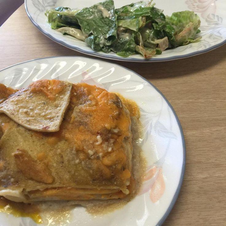 Vegan Cheese Enchilada with Salad. #vegan #janethudson