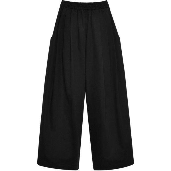 Tome     Cropped Karate Pant (2.585 RON) ❤ liked on Polyvore featuring pants, capris, trousers, black, wide leg cropped trousers, high waisted wide leg trousers, high rise trousers, high-waisted trousers and high-waisted pants
