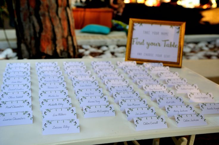 Our table plan by RoDo Creative! Beach Wedding Reception - Skiathos, Greece.