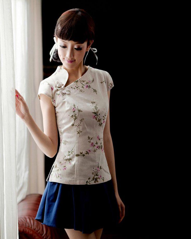 Slim Lovely Short Sleeve Women Cheong-Sam Dresses