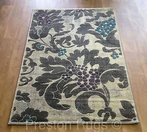 Teal And Grey Rug