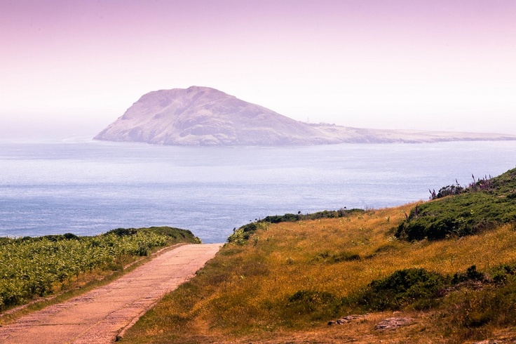 Bardsey Island, also known as the Island of 20,000 Saints and in Welsh as Ynys Enlli