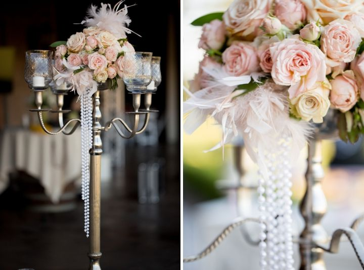 black, white, and blush, 1920s wedding inspiration from Arlene Chambers Photography and EVENTful Moments Flowers By Tiffany