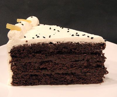 Asian Black Pearl Layer Cake with Ginger, Wasabi and Black Sesame ...