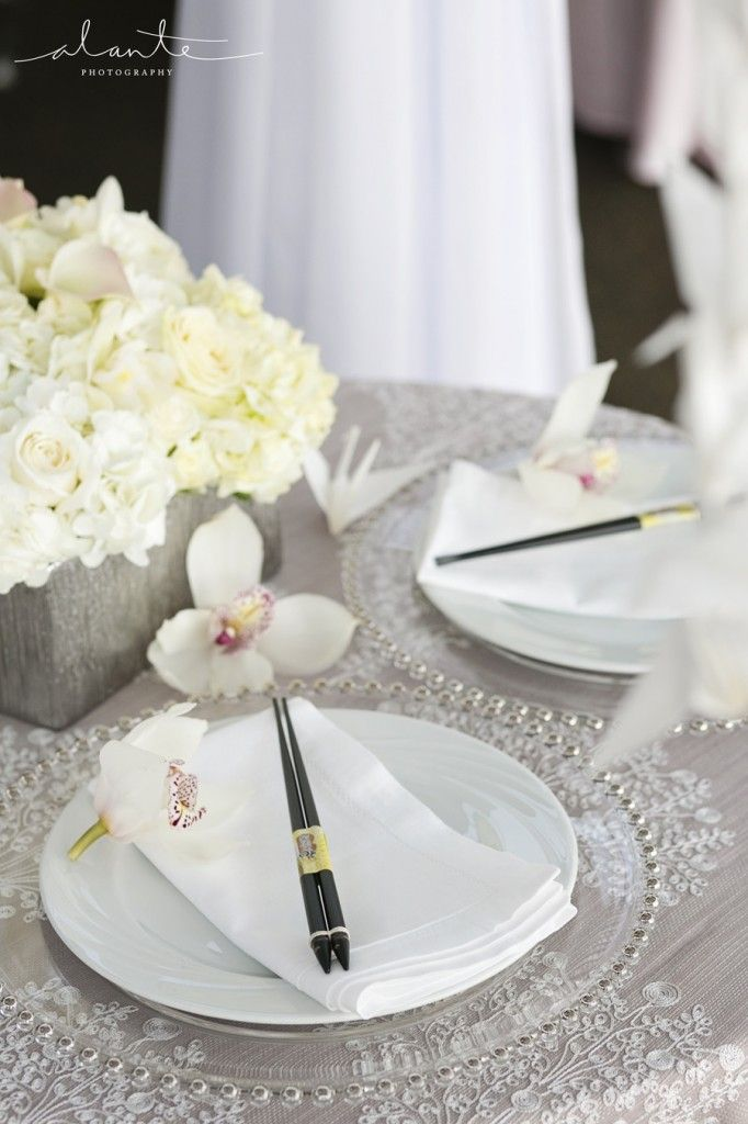 Sweetheart table | Modern Japanese Wedding Inspiration | World Trade Center Seattle Wedding | Seattle Wedding Planner | New Creations Wedding Design & Coordination | Alante Photography