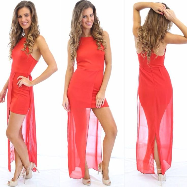 Loving You Was Red Maxi  | BORN TO BE CHIC