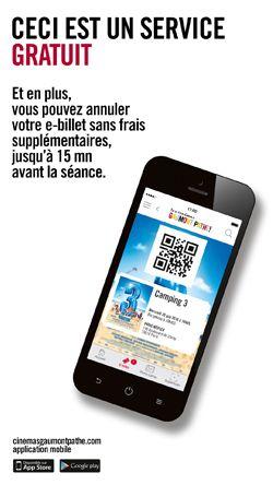 E-billets : votre place de cinéma dans votre téléphone mobile | Paiement sécurisé | Cinémas Gaumont Pathé