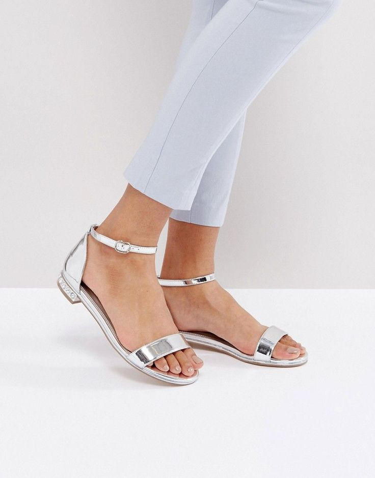 Buy Silver Asos Flat sandals for woman at best price. Compare Sandals  prices from online stores like Asos - Wossel Global