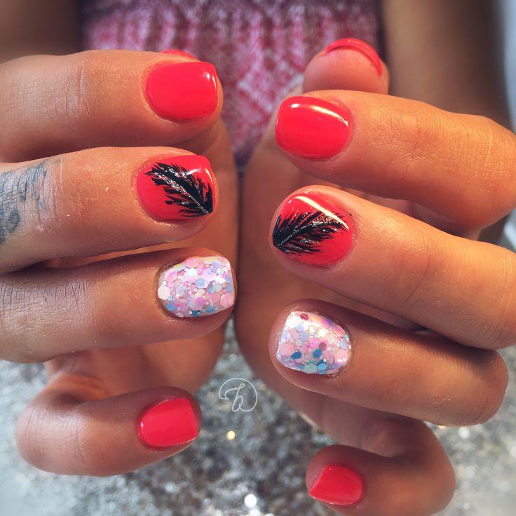 #leboudoirespacebeaute #ongleslaval #lavalnails #healtynails #naturalnails #fushia #glitter #summer