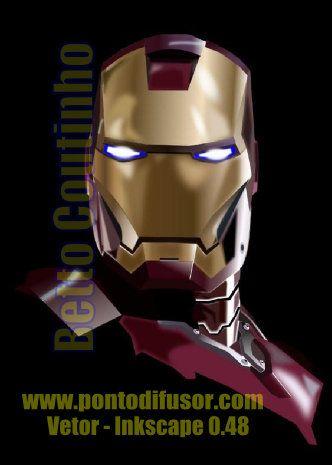 Iron Man - vetor feito no Inkscape feito a partir de imagem promocional do filme