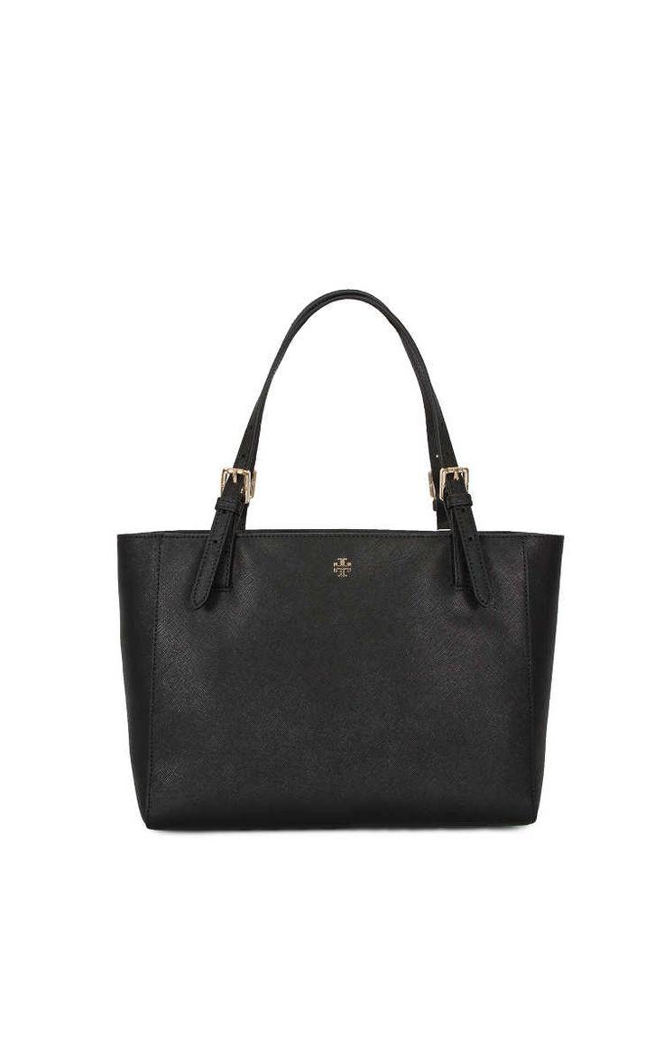 Handväska York Small Buckle Tote BLACK - Tory Burch - Designers - Raglady