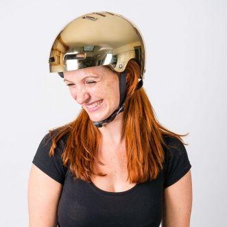 The most bling bike helmet in town! Lazer Urban Deluxe bike helmet - Gold