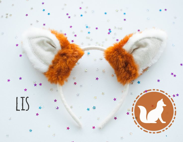 Headband with fox ears. For kids and adults. Halloween or carnivale decoration. Faux fur