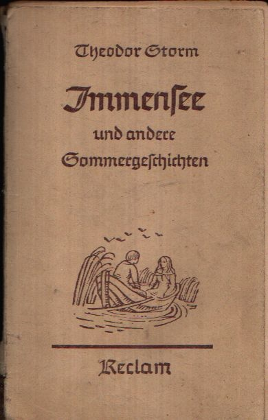 Immensee by Theodor Storm.  Storm's novellas and poems were my high school fascination.  i picked up an old copy of 5 stories plus Immensee for free at a antiquarian bookshop last year.  it's just that my German isn't good enough to read an old German book. read online in English here. --> http://www.fullbooks.com/Immensee.html