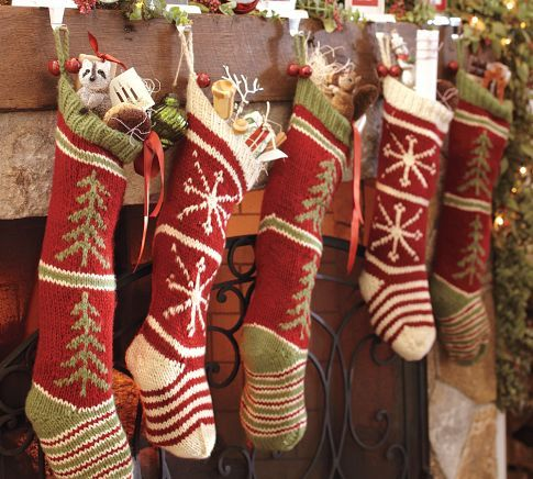 1000+ ideas about Knitted Christmas Stockings on Pinterest ...