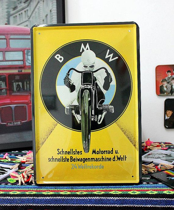 BMW Bavarian Motor Works Motorcycle Classic Vintage Tin Sign Metal - Bmw signs for sale