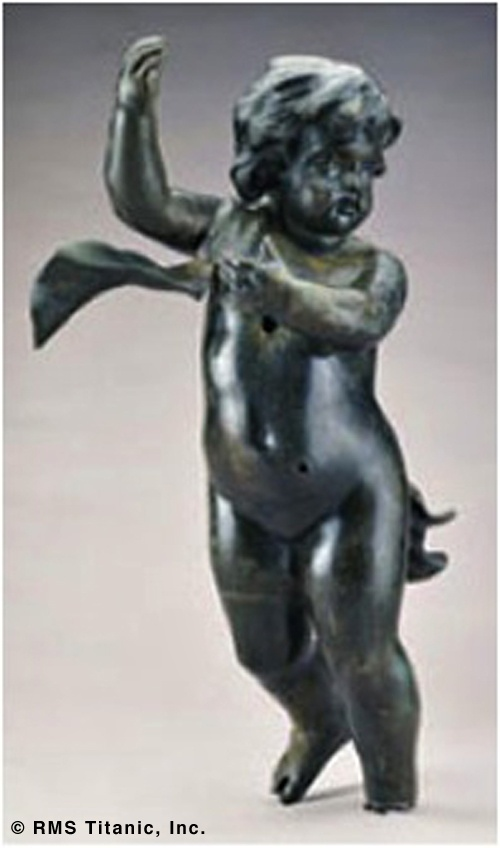 Bronze cherub from Titanic's grand staircase (recovered from the ship): Grand Staircases, The Ocean, Rmstitan, Rms Titanic, Ships, Titanic Artifact, Photo, Bronze Cherub, Titanic Grand