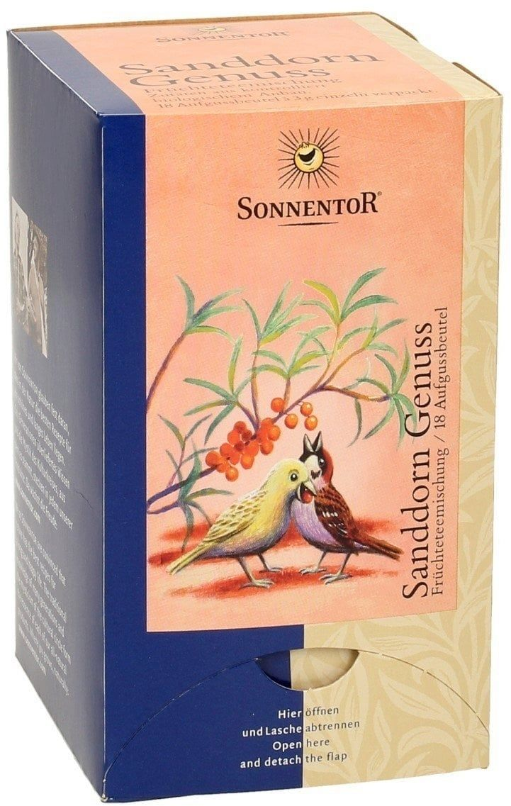 Sonnentor Homoktövis élvezet tea - Teafilter, 18darab