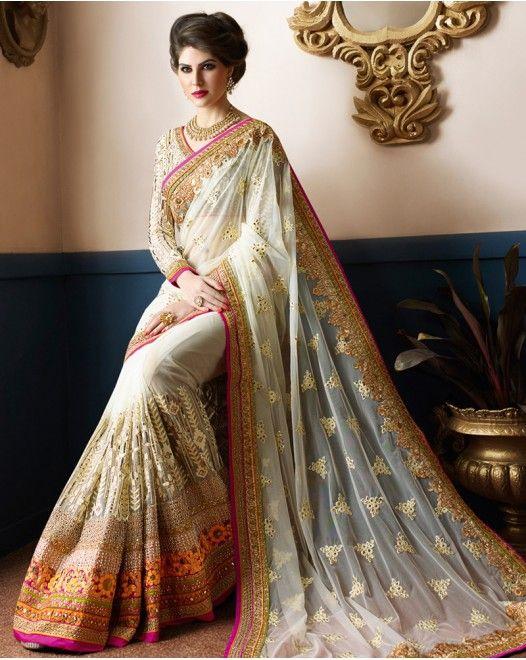 Smashing White Georgette Designer Saree  #designersareeswedding #latestdesignersarees #indiandesignersarees #designersareescouture #designersareesforgirls #designersarees2017 #floraldesignersarees #plaindesignersarees #whitedesignersarees #designersareespartywear #bollywooddesignersarees #simpledesignersarees #vogueindia #lakmefashionweek #bollywood #fashion #shopping #usa #india #indianwear
