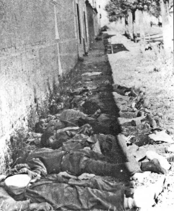 Fusilamientos del franquismo en el pueblo de Navalcarnero,27 de Octubre 1936. Guerra Civil española.