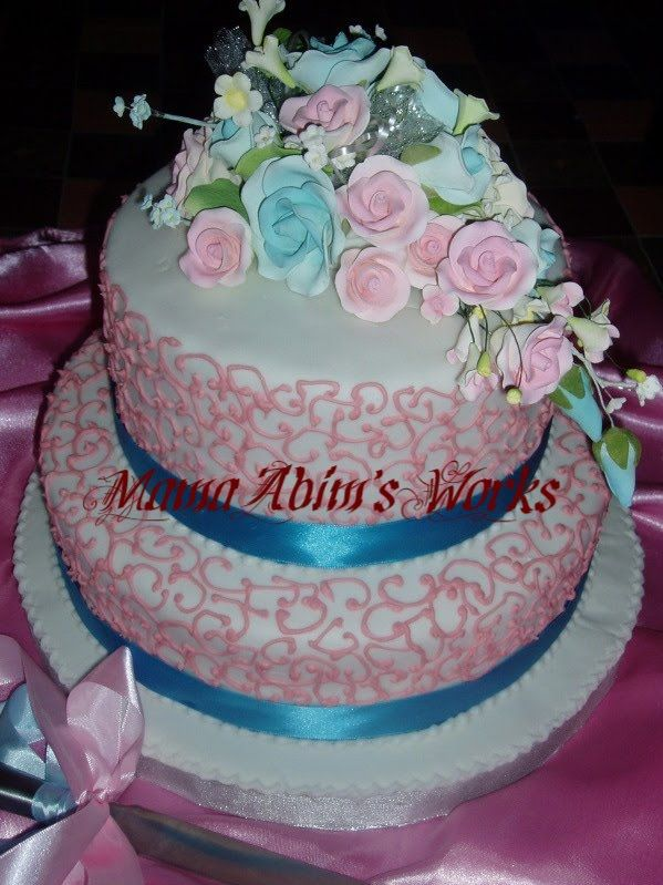 pink blue and white wedding cakes 23 best images about k amp j s wedding on 18569