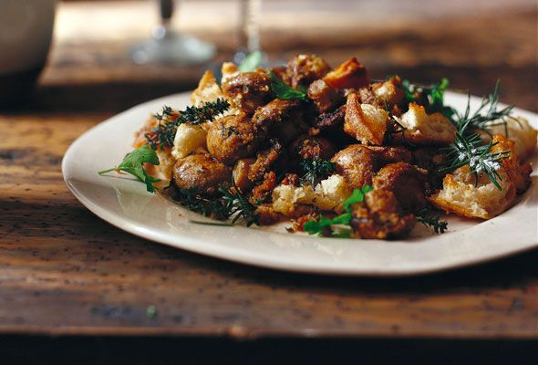 Baked Mushrooms, Broken Bread from Leite's Culinaria