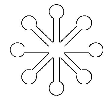 If you need free printable snowflake patterns for projects, here are lots of different stencils -large, small, modern & detailed snowflake shaped templates! MODERN SNOWFLAKE SHAPE would be great for an applique