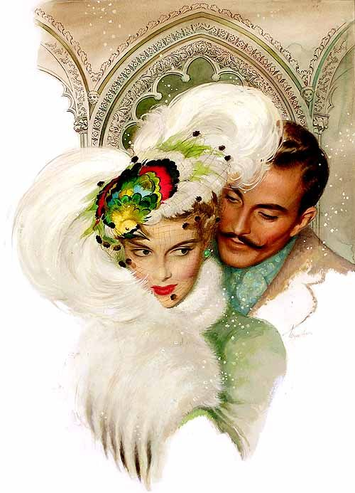 180 best vintage romance images on pinterest couples antique william rose 1950 vintage illustration of a romantic couple sciox Gallery