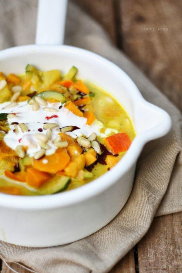 Dreierlei Liebelei: Eine Runde Soulfood bitte: Cremiges Süßkartoffel-Kürbis-Curry
