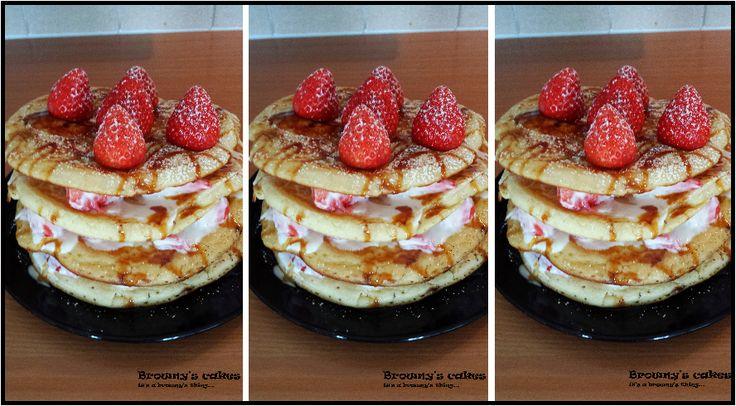 Browny's Cakes : Pancakes tower  recipe