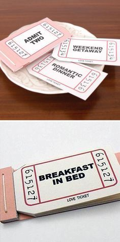 Coupons For Boyfriend Ideas Cute Diy Gifts Breakfast